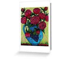 Peony Party Greeting Card