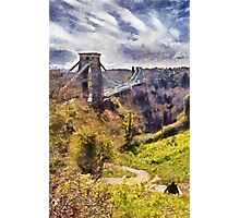 Clifton Suspension Brige, Bristol, UK Photographic Print