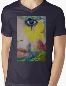 Heart Obscured by the Moon Mens V-Neck T-Shirt