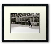 Skate like you'll never get hurt Framed Print