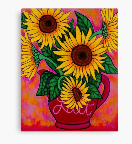 Saturday Morning Sunflowers Canvas Print