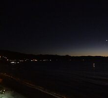 Venus and Mercury above the Bay of Banderas - Venus y Mercurio arriba de Bahia de Banderas by Bernhard Matejka