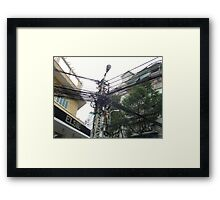 telecommunications infrastructure Framed Print