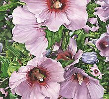 Hibiscus Flowers by marksatchwillart