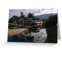 Delta and island of the River Cuale - El delta y la isla del Rio Cuale Greeting Card