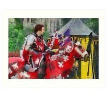 The Red knight, Joust 2006 at Berkeley Castle in Gloucestershire Art Print