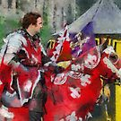 The Red knight, Joust 2006 at Berkeley Castle in Gloucestershire by buttonpresser