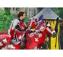 The Red knight, Joust 2006 at Berkeley Castle in Gloucestershire Photographic Print
