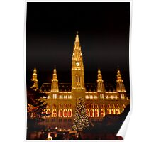 Vienna at Christmas time Poster