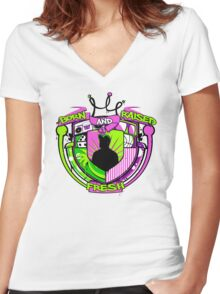 Born and Raised Women's Fitted V-Neck T-Shirt