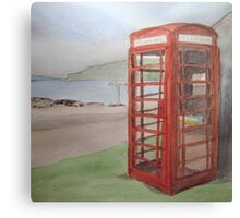 Phone Box at Diabaig Canvas Print