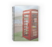 Phone Box at Diabaig Spiral Notebook