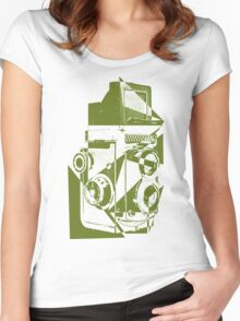 Retro Shooter Women's Fitted Scoop T-Shirt