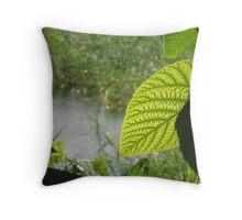 Light Re-leaf Throw Pillow