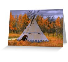 Plains Cree Teepee Greeting Card
