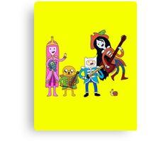 Sgt Finn's Awesome Friends Club Band Canvas Print