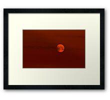 Red Lunar Night Framed Print