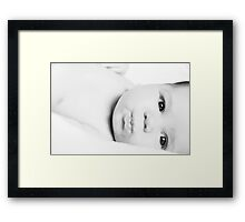 Baby Love Black and White Framed Print