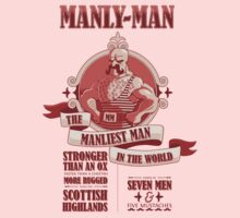 Manly-Man Kids Tee