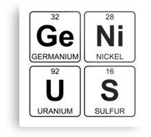 Ge Ni U S - Genius - Periodic Table - Chemistry Metal Print