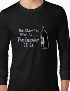 Black Books - Bernard On Wine Long Sleeve T-Shirt