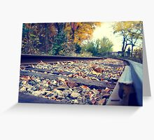 Leaves on Track Greeting Card