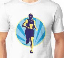 Marathon runner running race retro style Unisex T-Shirt