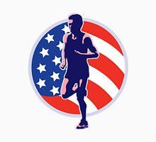 American Marathon runner stars stripes retro style Unisex T-Shirt