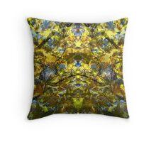 Golden Rorschach Throw Pillow
