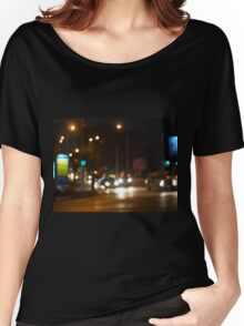 Abstract colored lights from moving vehicles Women's Relaxed Fit T-Shirt