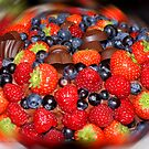Fruit and Chocolate Cake by Mike Leahy