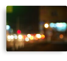 Abstract image of a night city scene Canvas Print