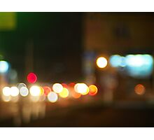 Abstract image of a night city scene Photographic Print