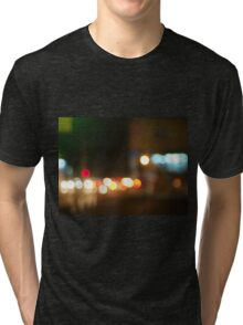 Abstract image of a night city scene Tri-blend T-Shirt