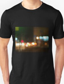 Abstract image of a night city scene Unisex T-Shirt