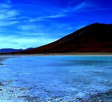 Perfect blue morning at the Laguna Verde, Bolivia by Camila Gelber