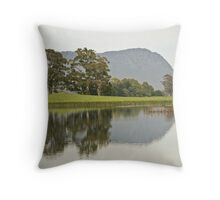 Mt Roland Reflection Throw Pillow