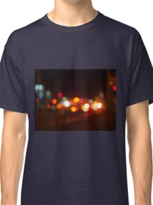Abstract and blur colored lights of the night city Classic T-Shirt