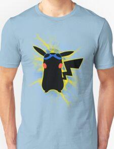 Super Smash Bros. Blue/Goggles Pikachu Silhouette T-Shirt