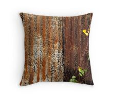 Decayed and Rusty Throw Pillow