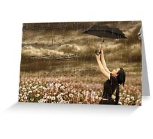 ~ Singing In The Rain ~ Greeting Card