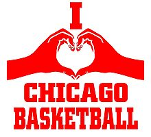 i love chicago basketball Photographic Print