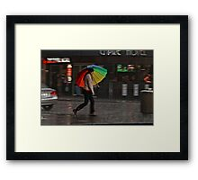Without the rain, there would be no rainbow Framed Print