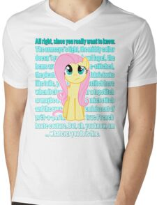 Fluttershy Critique Mens V-Neck T-Shirt