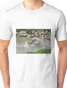 Polar Bears playing In Water Unisex T-Shirt