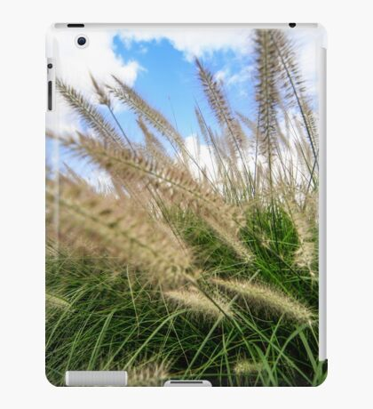Flowering rush grass on a river bank  iPad Case/Skin