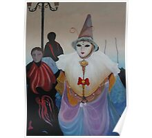 Girl in a Clown Hat Poster