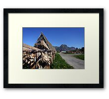 Scenic Cod in the Lofoten Islands, Norway Framed Print