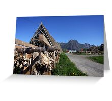 Scenic Cod in the Lofoten Islands, Norway Greeting Card