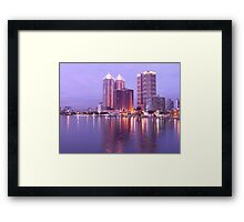 Colorful Love River at Night Framed Print